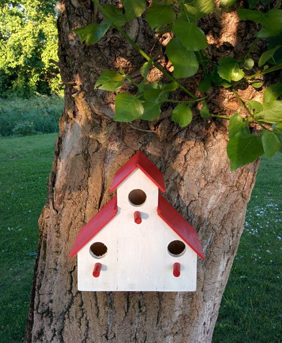 casetta uccelli fatta a mano con legno di di GARAGEbySilvio