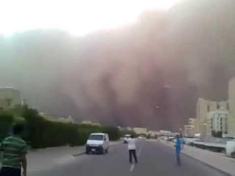 Sand Strom In Saudi Arabia