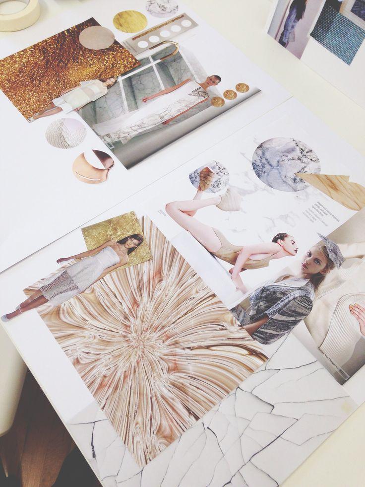 Fashion Sketchbook - textiles knit project inspiration / colour board; visual research & fashion design development; fashion portfolio