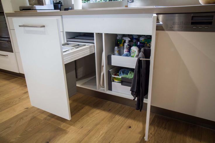Under sink cabinet bin drawer sink drawers www for Under sink cabinet tray