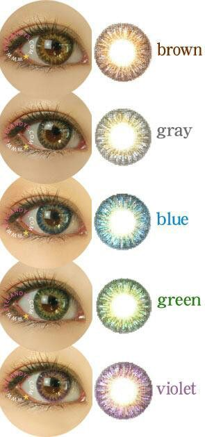 GEO Tri Color World 3 Tone  circle lenses lens cosmetic colored contacts