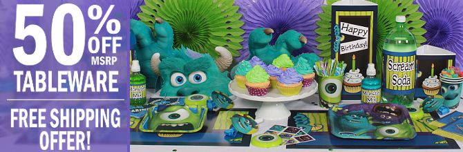 Monster Baby Shower Decorations | Monsters Inc Party Supplies