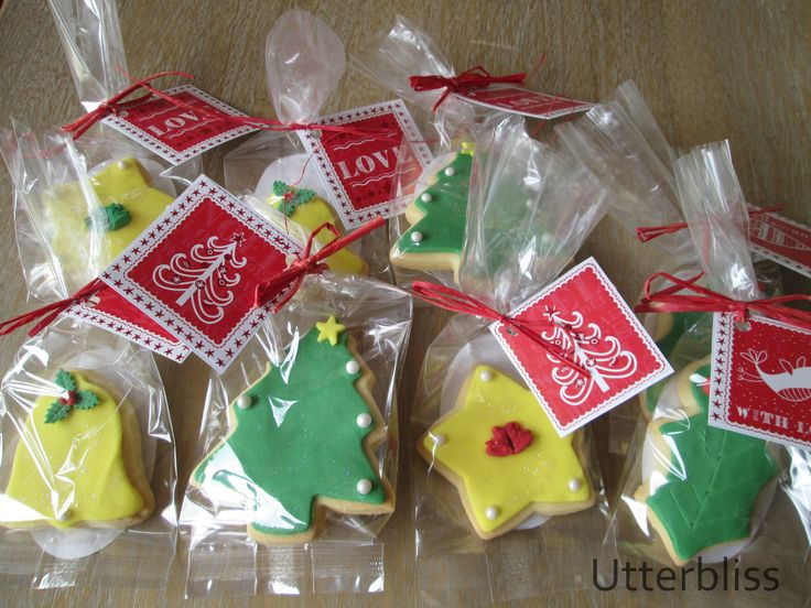 Iced Christmas biscuits. Great stocking fillers.