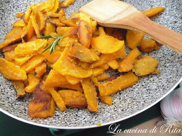 Zucca croccante in padella / crisp  pumpkin