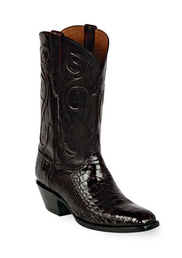American Alligator Boots Style 123 Custom-Made by Black Jack Boots
