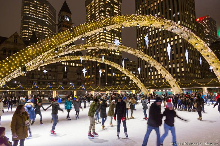 Nathan Phillips Square Skating party!