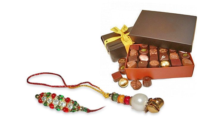 Get 20 Pieces of Delicious hand made chocolates with nuts & a Rakhi worth Rs. 1499 from Kanny Chocolates.