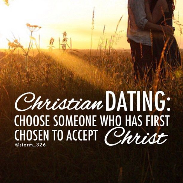 Christian man not dating
