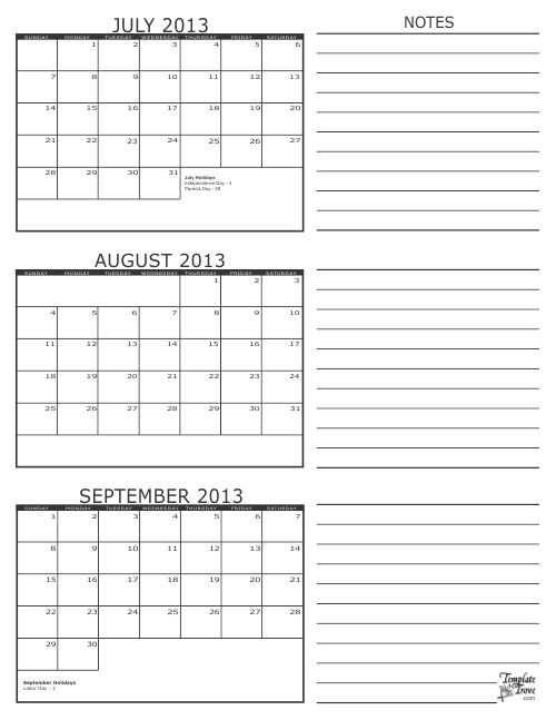 August Calendar 2015 Printable Militaryalicious