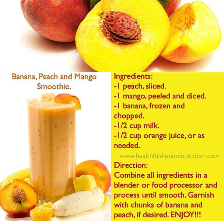 Peach mango, banana smoothie | Smoothies, Juicing and ...