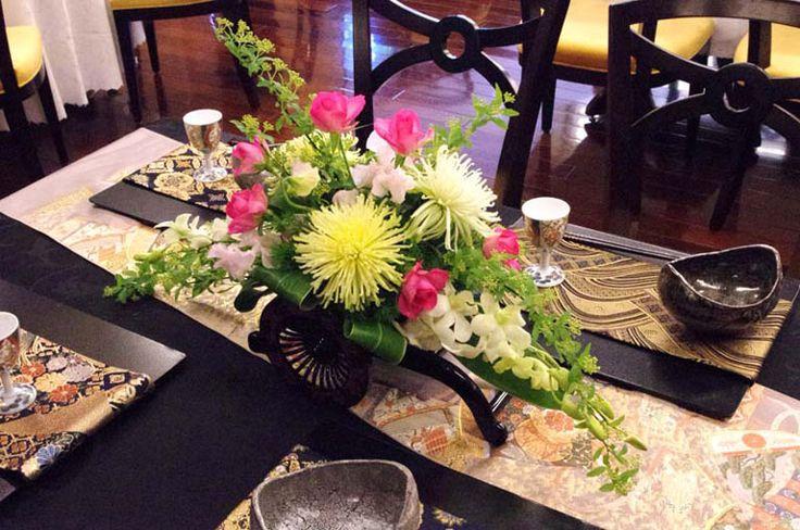 卓上装花 ゲストテーブル バンケットフラワー 原宿東郷記念館 フラワーデザイン室
