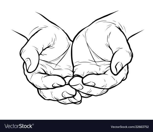 16 Cupped Hands Vector Hand Sketch Art Drawings Sketches Creative Hand Art