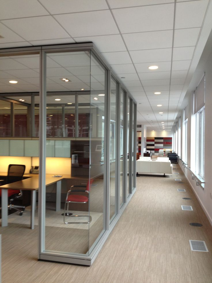 Private Offices Enclose Moveable Walls Frameless Glass