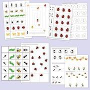 Otthon nyomtatható ovis játékok  és feladatok bogárkákról, lepkékről, hernyókról: http://webshop.jatsszunk-egyutt.hu/shop/bogarak-jatekcsomag/