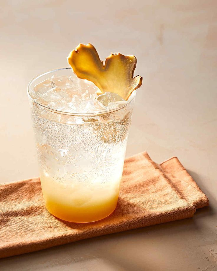 Lemon-Ginger Soda Recipe | Martha Stewart Living — Ginger and lemon juices are tempered with honey and topped with seltzer for a refreshing, immune-boosting soda.