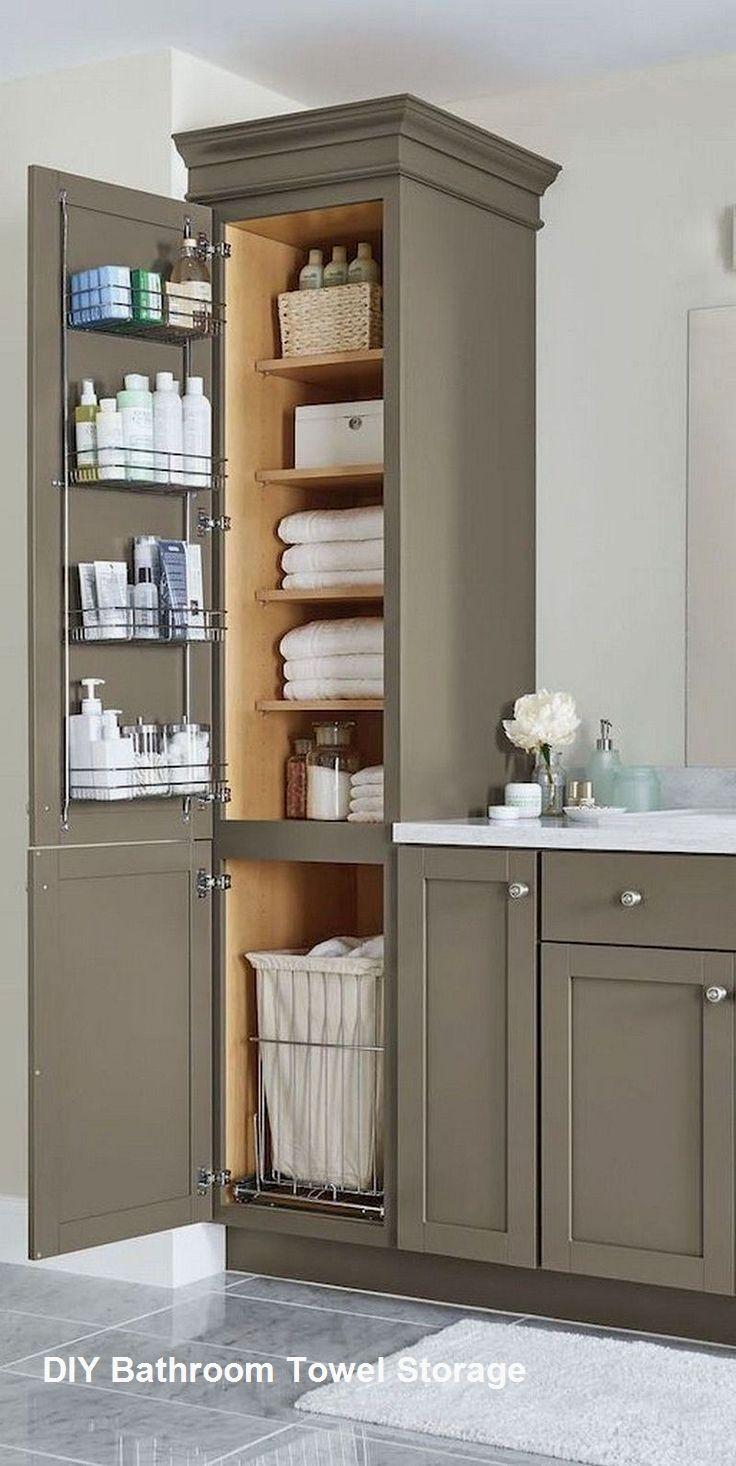 Small Bathroom Towel Storage Small Bathroom Storage Bathroom Cabinet Makeover Bathroom Vanity Decor