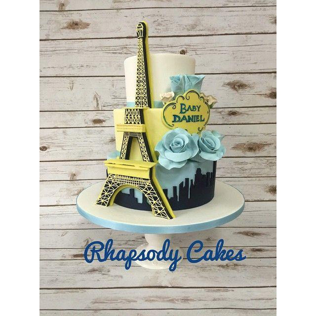 Eiffel Tower Cake for Baby Daniel