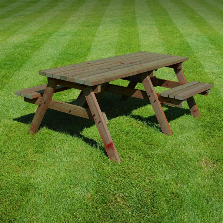 Bisbrooke disabled access picnic bench (available in rustic brown/light green)