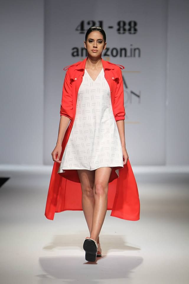 Skater Dress with Red Trench Shirt shop online at www.431-88.com #Dresses #Shirts #Skirts #WomensFashion #FashionWhatsNext #RunwayFashion #WomensWear #IndianFashion #OOTD #OOTN #MustHaves #Shopping #Love #Favorite #Fashion #Style #Delhi #Mumbai #Bangalore #India #NYC #LosAngeles #Paris #Fringes#AW15#ShwetaKapur #PlaySexy #43188 #Red #Minimalist #CleanCuts