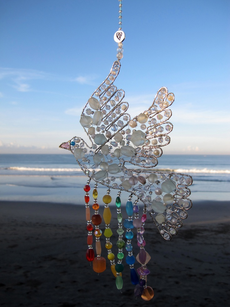 In any room, our adorable light catchers will transform your space into an enchanted land of light and sparkling jewels! Our Rainbow Peace Dove can be ordered on www.heroandleander.com for a price of $23.00