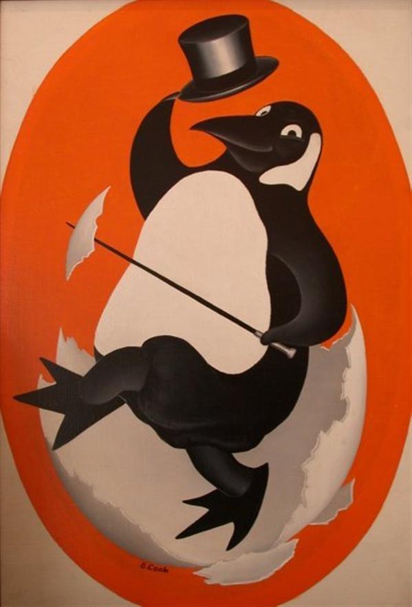 Happy Penguin, Beryl Cook Paintings