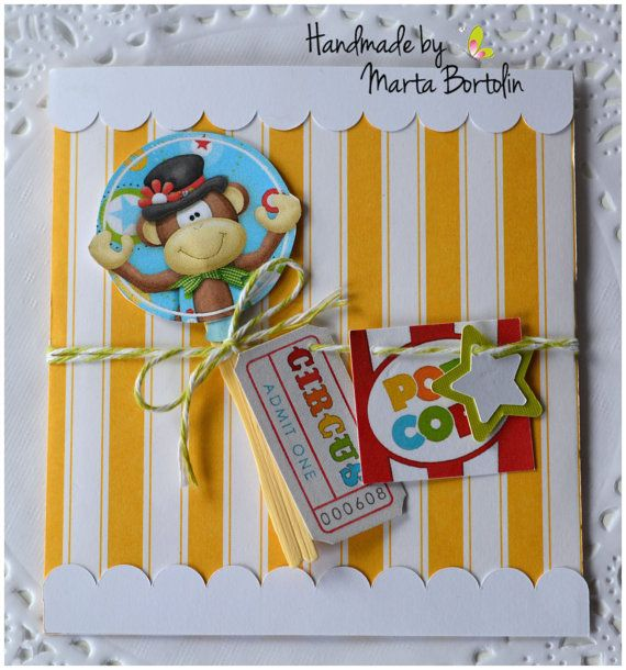 Circus Themed Invitation card Personalized by tracesofcrafts
