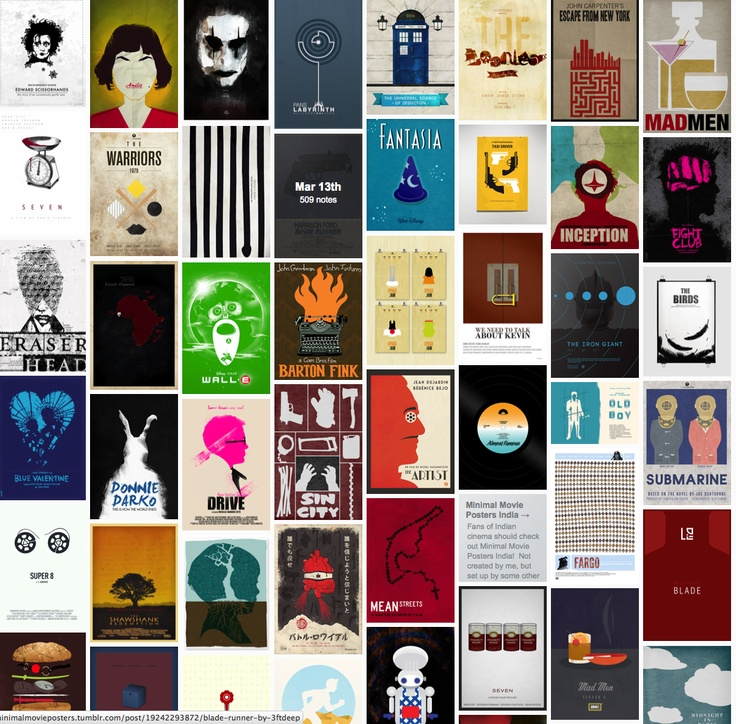 Minimal Movie Posters is a wonderful tumblr blog where both designers and amateurs submit their poster designs.