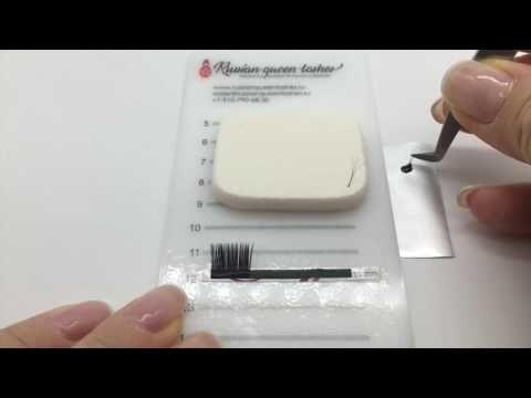 Como hacer un retoque de extensiones de pestañas - YouTube