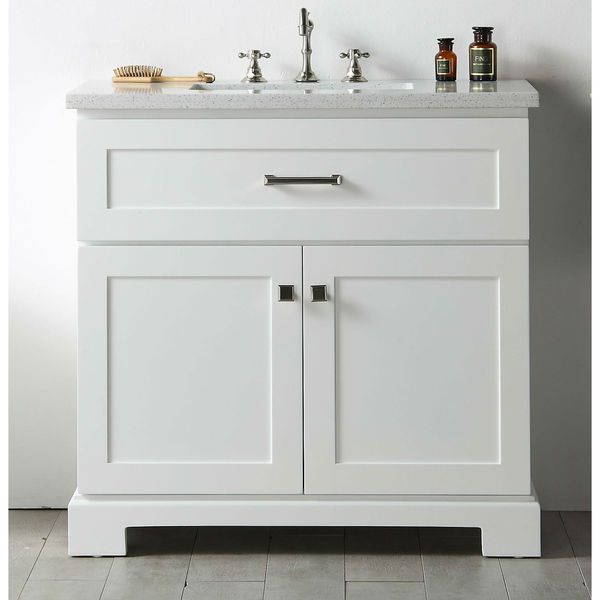 Best Photo Gallery For Website Legion Furniture White Wood Quartz Top inch Sink Vanity without Faucet by Legion Furniture