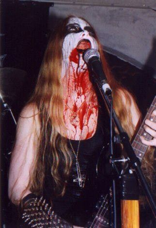 Onielar, front woman of Darkened Nocturn Slaughtercult
