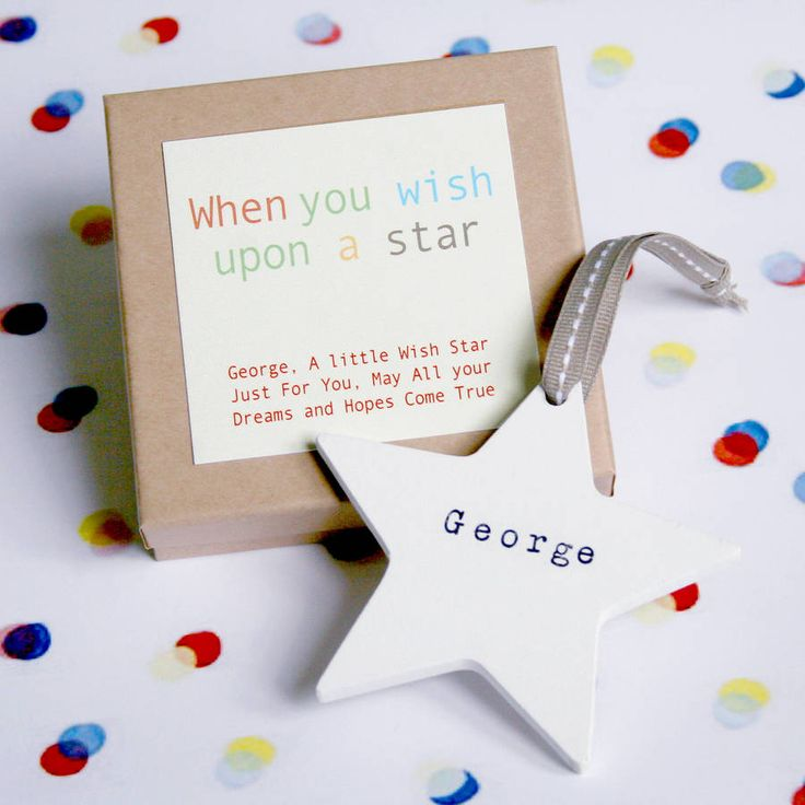 Personalised Wooden Wish Star