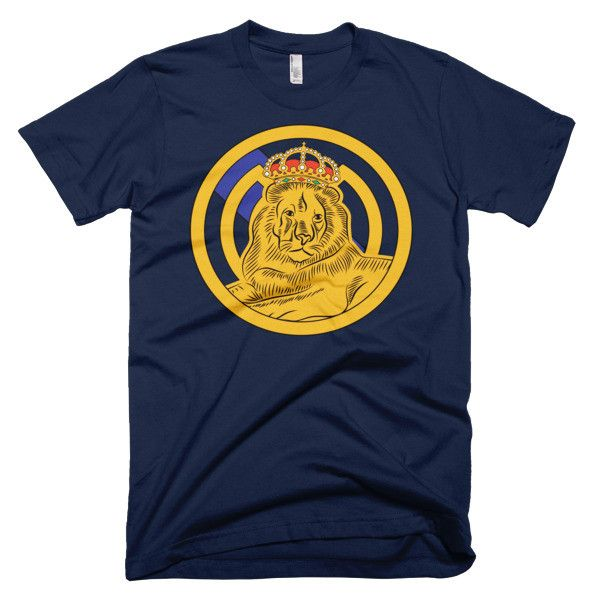 Real Madrid sitting lion T-shirt relaxed lion tee shirts Short sleeve men's t-shirt