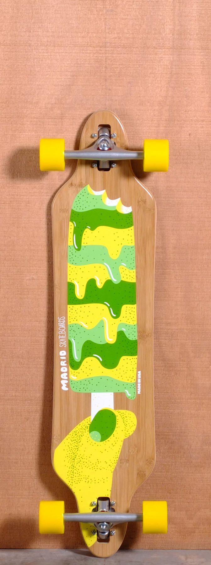 """Madrid 38.375"""" Popsicle Longboard Complete - Bamboo"""