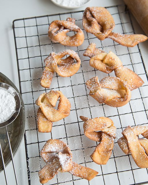 "Fattigman's Knuter - Norwegian ""Poor Man's Knots"" Cookies - Sweet Paul Holiday Countdown presented by Mrs. Meyer's Clean Day #sweetpaul #Norway #Norge @mrsmeyersclean"