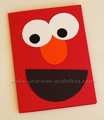 Make your own Elmo invitations