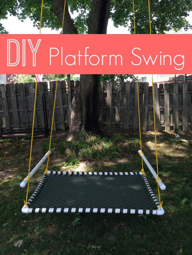 Make A DIY Platform Swing From PVC Piping, Webbing, And Rope. My Kids Canu0027t  Get Enough Of This Swing And The Best ...