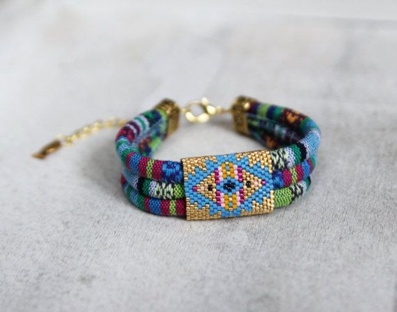Colorful Ethnic Tribal Bracelet, Colorful Multistrand Bracelet, Colorful Ibiza Bracelet, Boho Bracelet, Yoga Bracelet, Ethnic Ibiza Bracelet