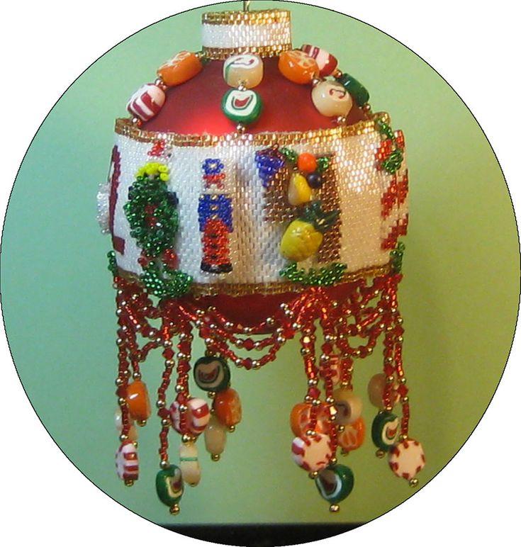 christmas danglers in peyote bead stitch | Noel 2014, Sova Enterprises