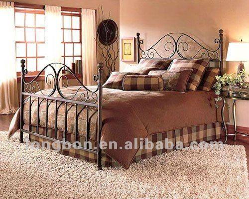 2013 top- venda de ferro varao cama de casal em projetos de metal-imagem-Camas-ID do produto:624723190-portuguese.alibaba.com