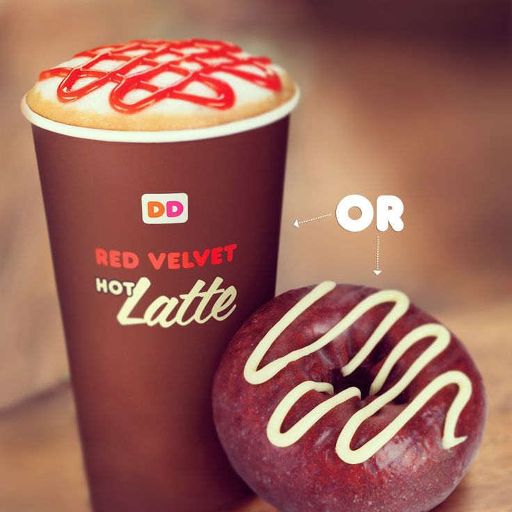 Red Velvet Latte or Red Velvet Donut?! Why not both!