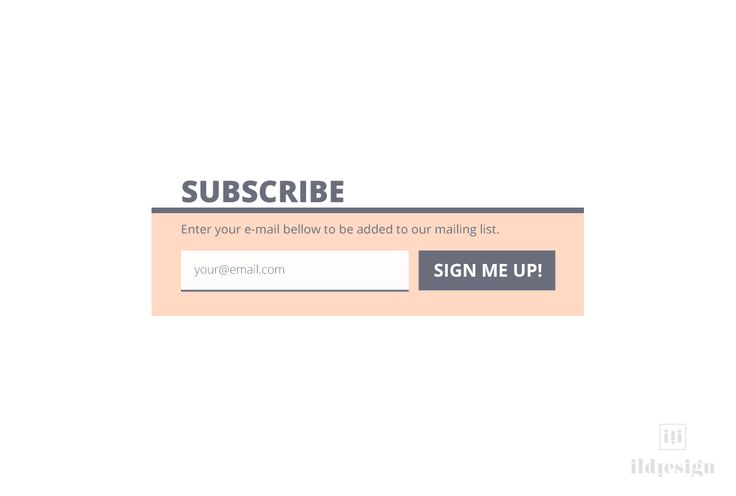 Subscribe form UI