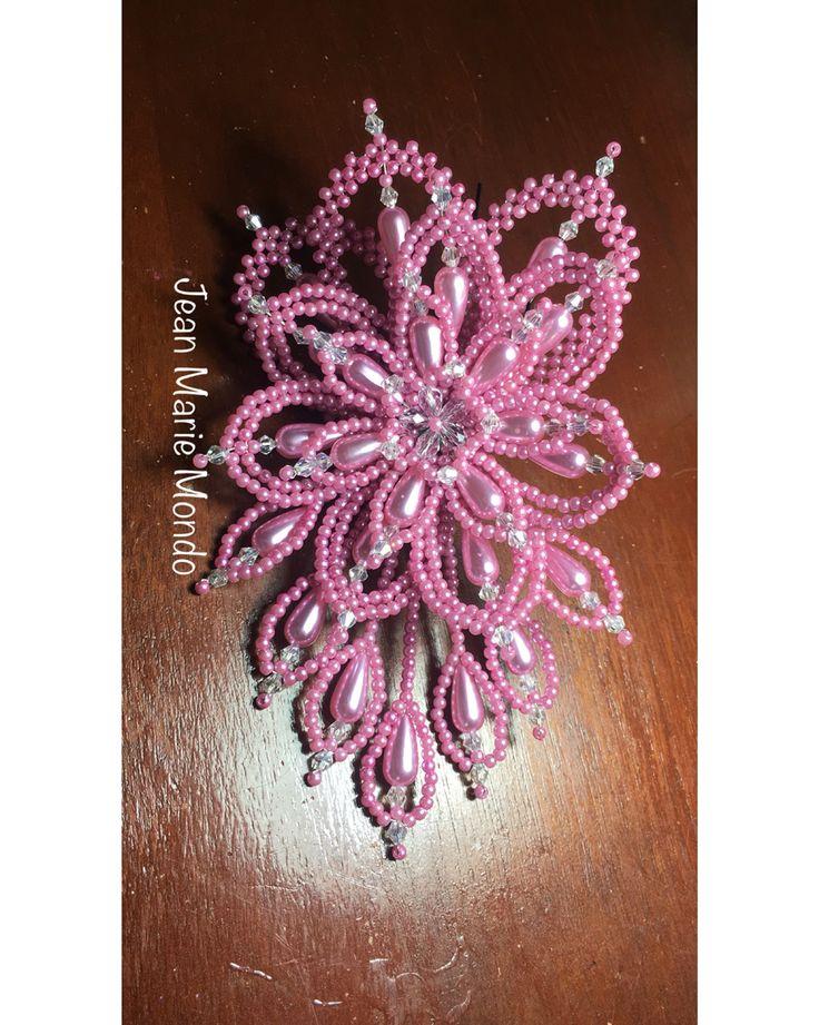 Tembleque Tapa Oreja con perlas rosadas y cristales.