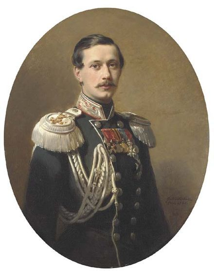 """1860 Winterhalter(Wiki)#Pavel Andreyevich Count Shuvalov *Leipzig/St.Petersburg 25.11.[O.S.13.11.]1830 +Yalta 20.4.[O.S.7.4.] 1908)(#2.cousin of Olga Petrovna Shuvalova*1848+1927 Versailles⬇) general.inf+Berlin ambassador as brother général cavalerie+gouverneur (1864-66)+chef Police(1866-74)+ambass.London (1874-79)Count Pyotr *1827-89 counselor to Alexander II. Referring to his court influence and reactionary policies, his more liberal opponents somt.called him""""Peter IV""""(ref. to…"""