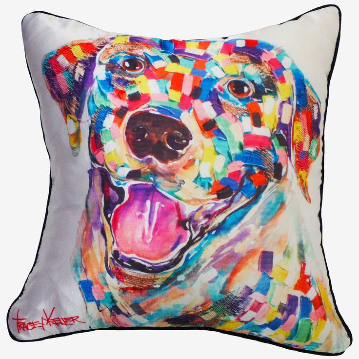 Labrador cushion cover tracey keller