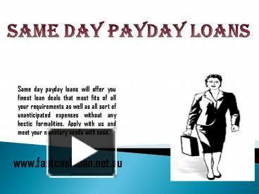 same day loans bad credit