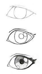 Resultado de imagen para ojos manga a lapiz