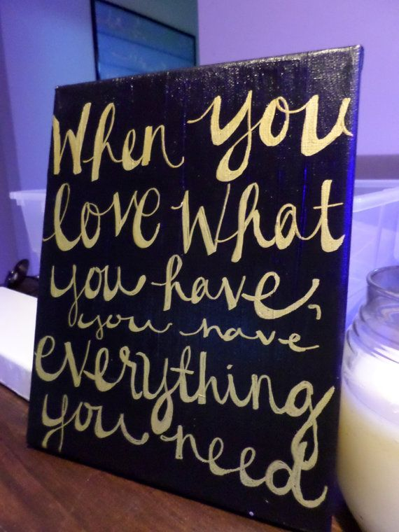 Love What You Have Painting by MegLikesToPaint on Etsy, $7.00