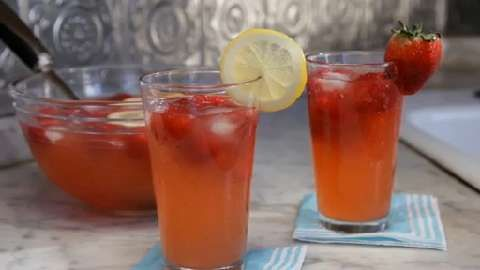 Lemon-Strawberry Punch Allrecipes.com