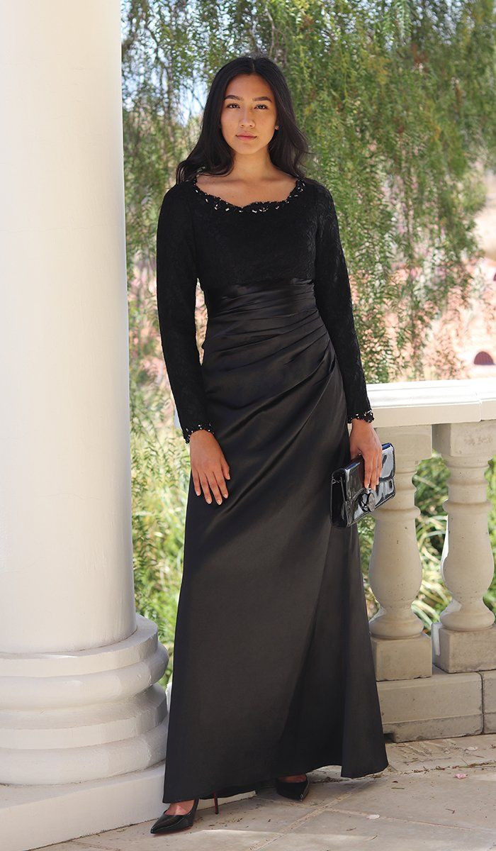 Black Evening Maxi Dress Keyhole Cocktail Dress Long Sleeves Winter Flattering Dress Boho Chic Formal Dress Long Fit and Flare Dress
