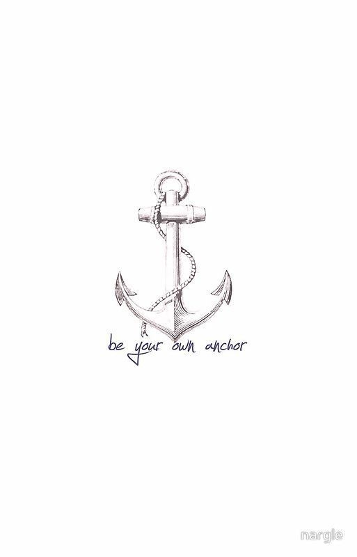 """Teen Wolf Quote is your own anchor"" iPhone case of nargle # tattoos"
